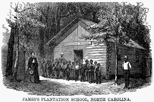 1868 Art Print featuring the photograph Freedmen School, 1868 by Granger