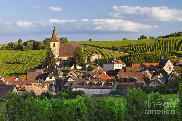Alsace Print featuring the photograph Hunawihr Alsace by Brian Jannsen