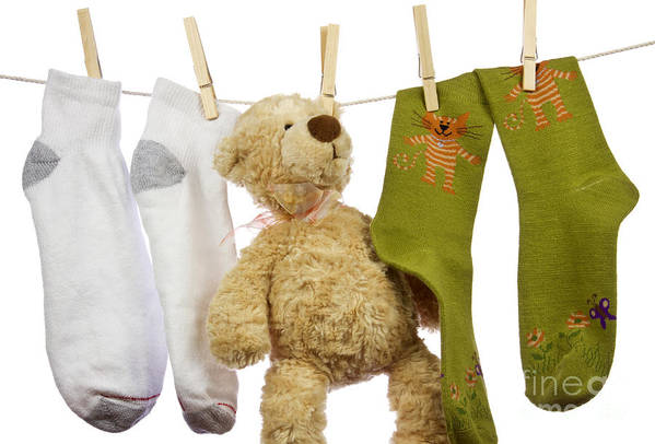 Socks Art Print featuring the photograph Laundry by Blink Images