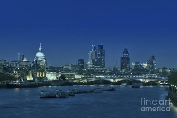 Bridge Art Print featuring the photograph London Skyline by Roberto Morgenthaler