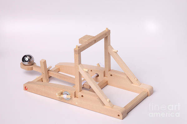 Catapult Art Print featuring the photograph Model Catapult by Ted Kinsman