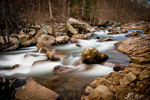 Water Art Print featuring the photograph Mountain Stream by Marion Wear