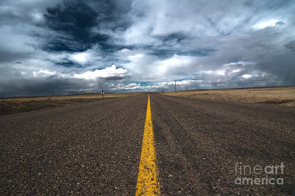 Scenic Drive Art Print featuring the photograph Open Highway by Arjuna Kodisinghe