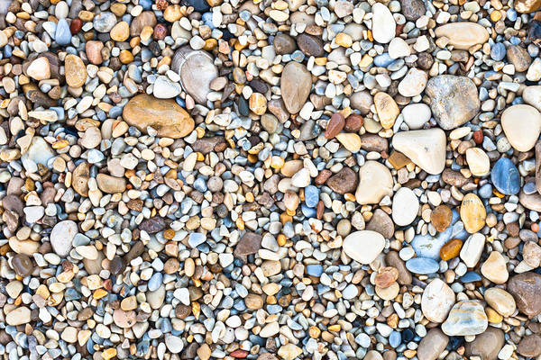 Abstract Art Print featuring the photograph Pebbles by Tom Gowanlock
