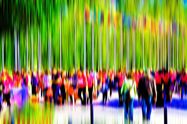 Abstract Art Print featuring the digital art People Walking In The City-9 by Joel Vieira