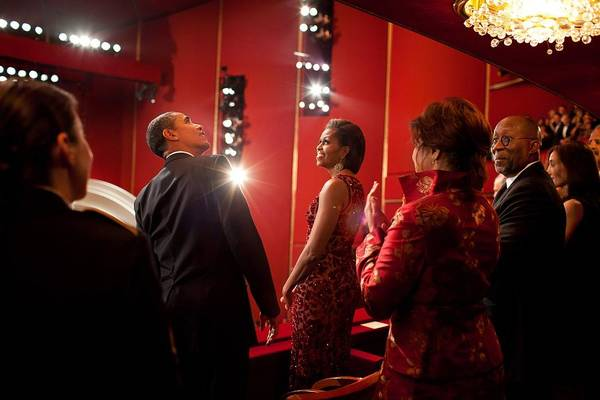 History Art Print featuring the photograph President And Michelle Obama Attend by Everett