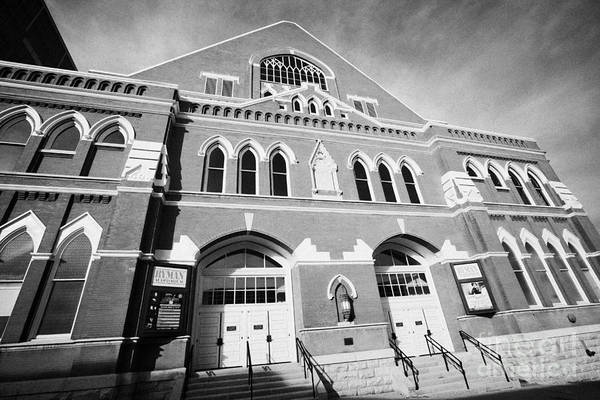 Ryman Art Print featuring the photograph The Ryman Auditorium Former Home Of The Grand Ole Opry And Gospel Union Tabernacle Nashville by Joe Fox