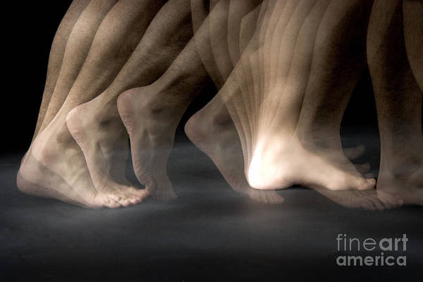 Stroboscopic Print featuring the Walking by Ted Kinsman