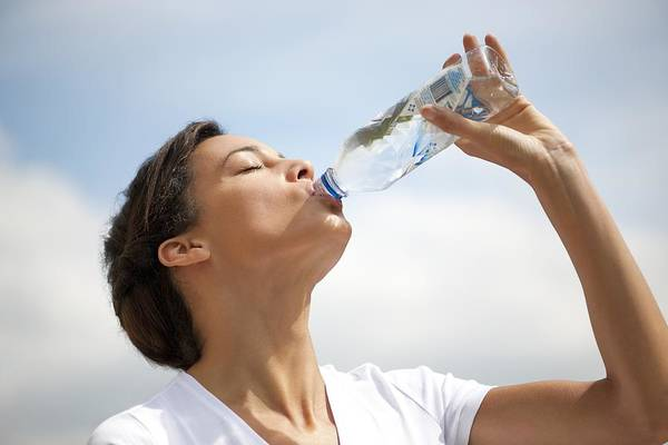 Healthcare Art Print featuring the photograph Woman Drinking Bottled Water by