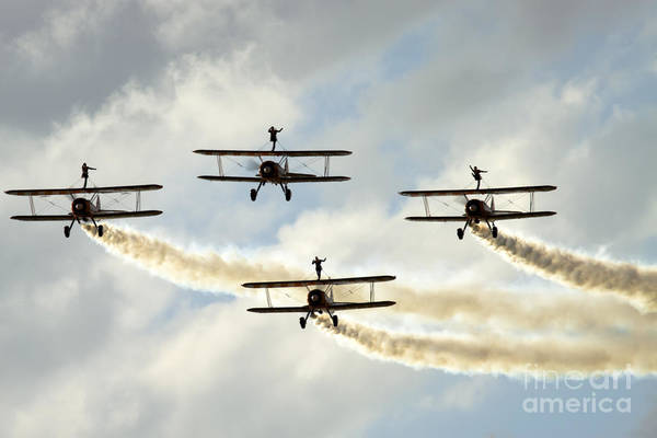Airshow Art Print featuring the photograph Wingwalkers by Angel Tarantella