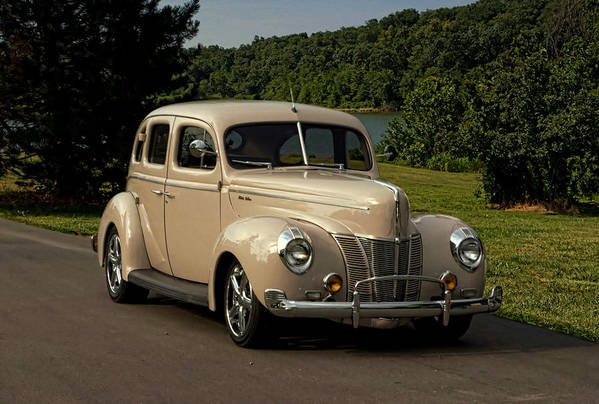 1940 Art Print featuring the photograph 1940 Ford Deluxe Sedan Hot Rod by Tim McCullough