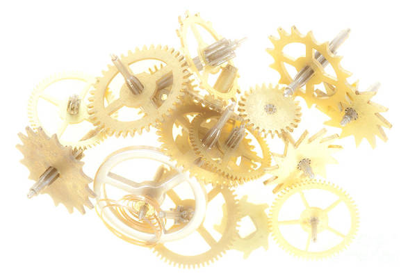 Cogwheel Art Print featuring the photograph Clockwork Mechanism by Michal Boubin