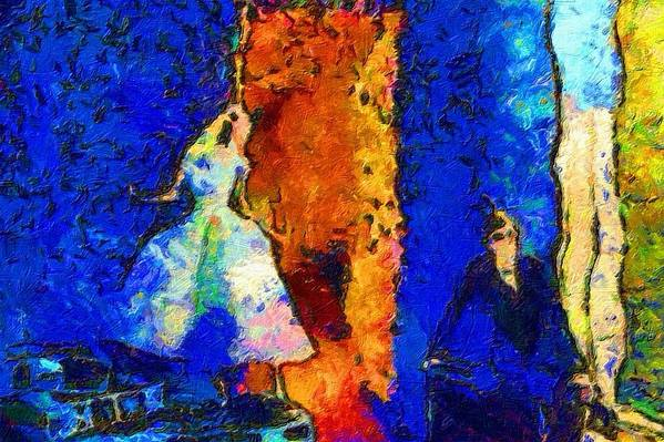 Impressionist Fashion Painting Art Print featuring the painting Fashion 310 by Jacques Silberstein