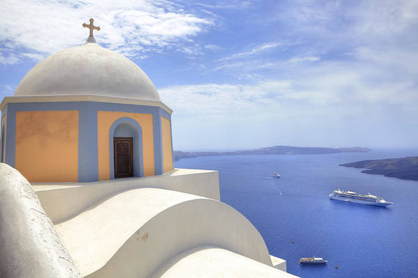 Fira Art Print featuring the photograph Fira - Santorini by Joana Kruse