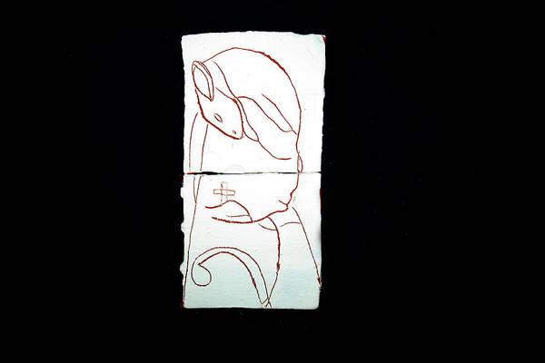 Jesus Art Print featuring the ceramic art Good Shepherd by Gloria Ssali