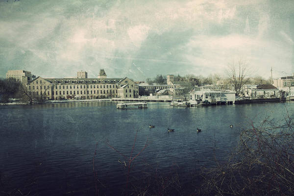 Fox River Mills Print featuring the photograph Historic Fox River Mills by Joel Witmeyer