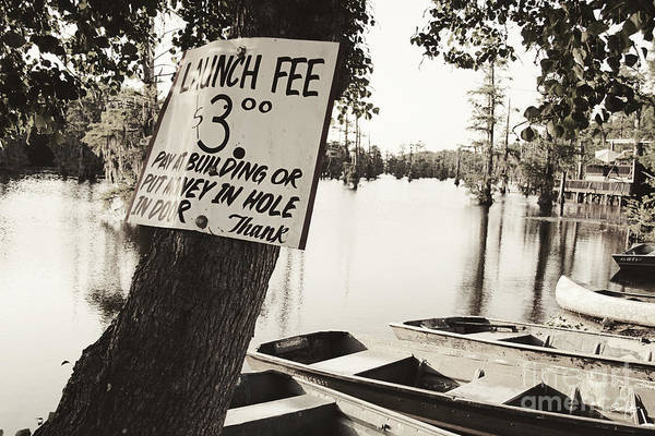 Launch Fee Art Print featuring the photograph Launch Fee - Sepia Toned by Scott Pellegrin