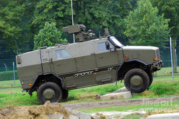4x4 Art Print featuring the photograph The Dingo 2 Mppv Of The Belgian Army by Luc De Jaeger