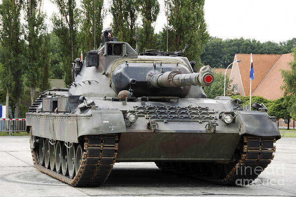 Adults Only Print featuring the photograph The Leopard 1a5 Of The Belgian Army by Luc De Jaeger