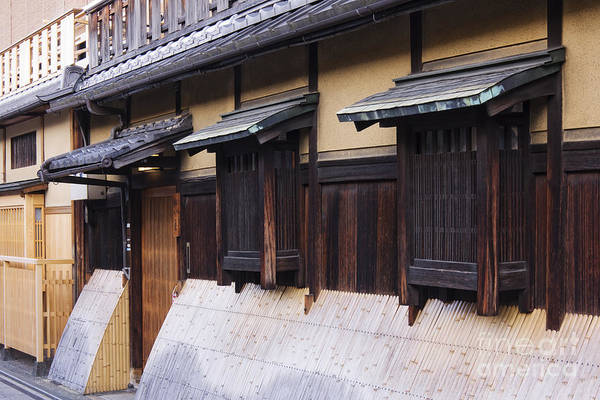 Architectural Detail Print featuring the photograph Traditional Japanese House by Jeremy Woodhouse