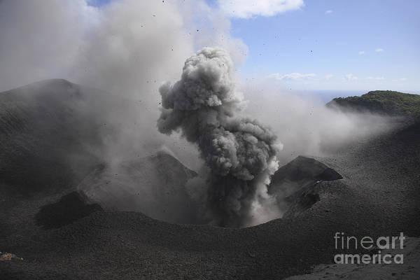 No People Art Print featuring the photograph Yasur Eruption, Tanna Island, Vanuatu by Martin Rietze