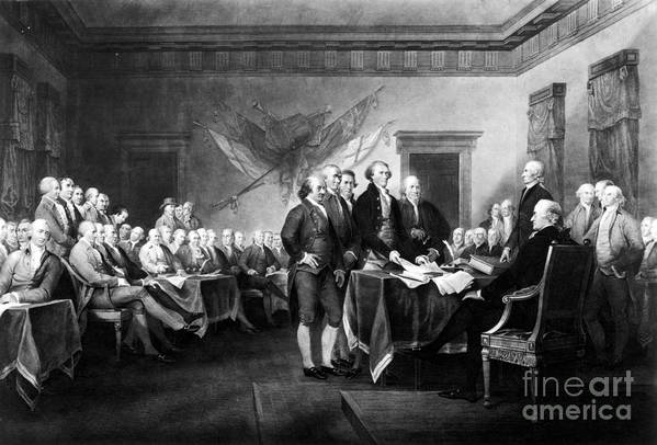 1776 Art Print featuring the photograph Declaration Of Independence by Granger