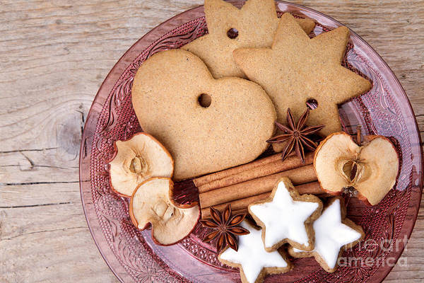 Ginger Art Print featuring the photograph Christmas Gingerbread by Nailia Schwarz