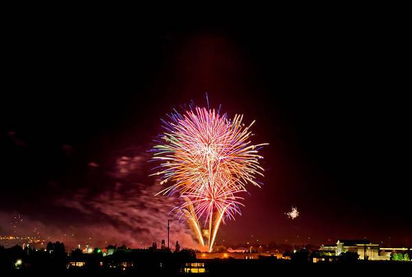 Fireworks Art Print featuring the photograph Fireworks by Elijah Weber