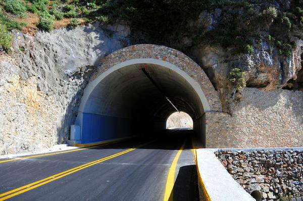 Mountain Print featuring the photograph Mountain Tunnel. by Fernando Barozza