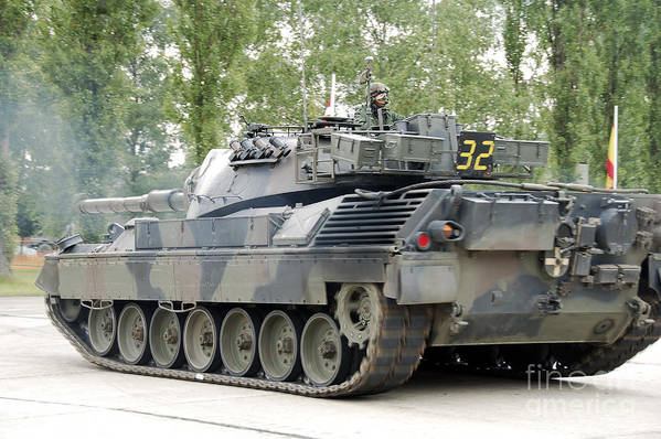 Adults Only Art Print featuring the photograph The Leopard 1a5 Of The Belgian Army by Luc De Jaeger