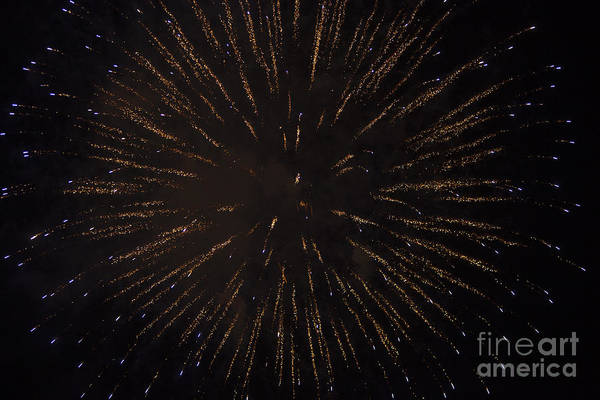 4th Of July Art Print featuring the photograph Fireworks by Juan Silva