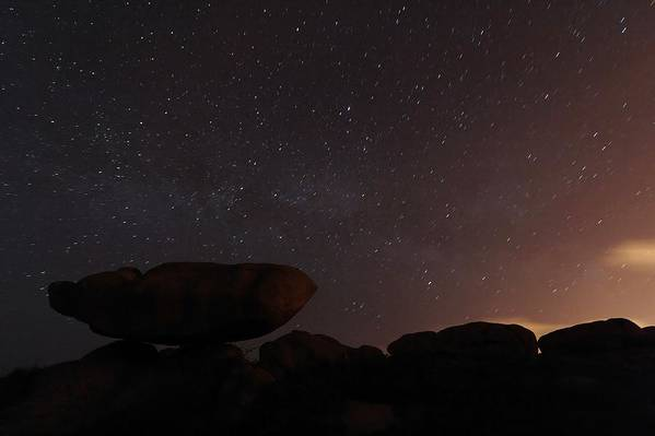 Astronomy Art Print featuring the photograph Stars In A Night Sky by Laurent Laveder