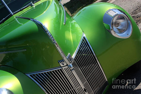1940 Art Print featuring the photograph 40 Ford - Grill Angle-8659 by Gary Gingrich Galleries