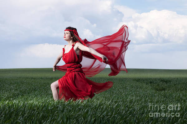 Woman Art Print featuring the photograph Woman In Red Series by Cindy Singleton