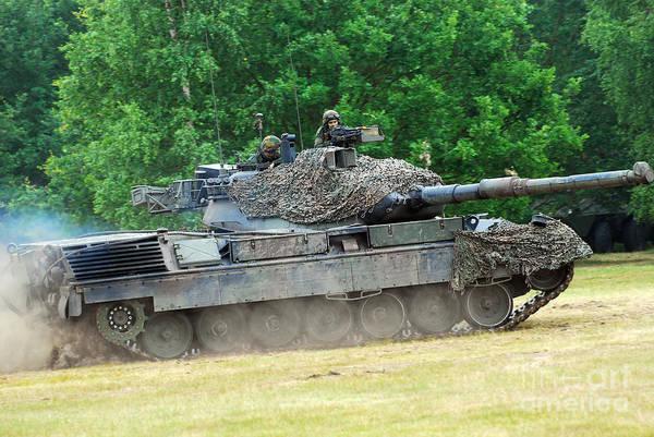 Military Art Print featuring the photograph The Leopard 1a5 Main Battle Tank by Luc De Jaeger