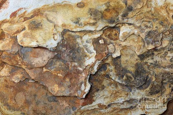 Nature Art Print featuring the photograph Natures Rock Art by Jack R Brock
