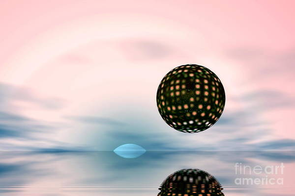 Nature Art Print featuring the digital art Planets by Odon Czintos