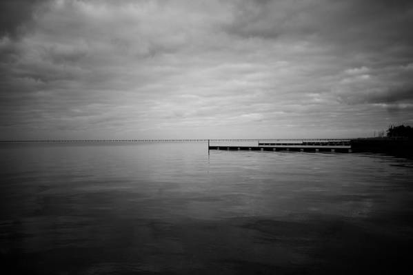 Lake Pontchartrain Art Print featuring the photograph A Cloudy Day by Allison Badely