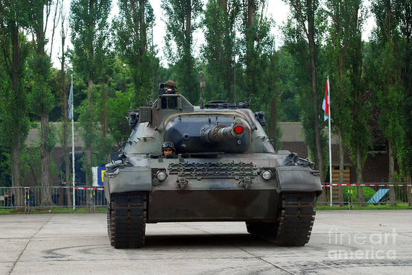 Adults Only Art Print featuring the photograph A Leopard 1a5 Mbt Of The Belgian Army by Luc De Jaeger