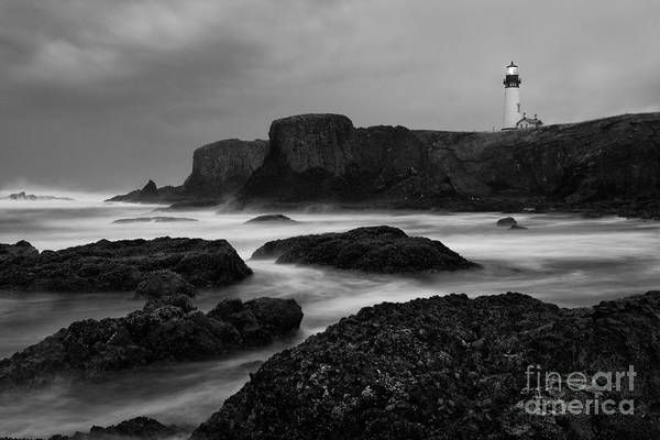 Water Photography Art Print featuring the photograph A Light In The Storm by Keith Kapple