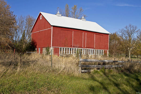 Barn Art Print featuring the photograph A Red Barn by Wayne Stabnaw