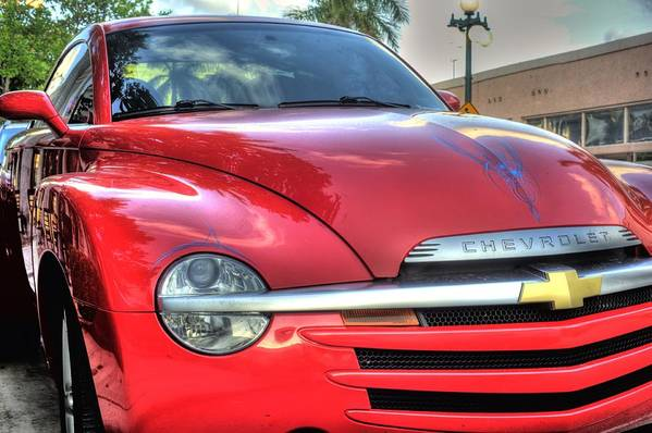 Chevy Art Print featuring the photograph A Red Chevy by Armando Perez