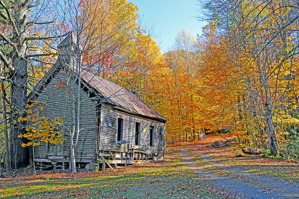 Historical Buildings Art Print featuring the photograph Abandoned Church by Alan Lenk