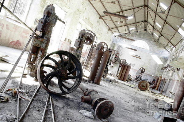 Abandoned Print featuring the photograph Abandoned Factory by Carlos Caetano