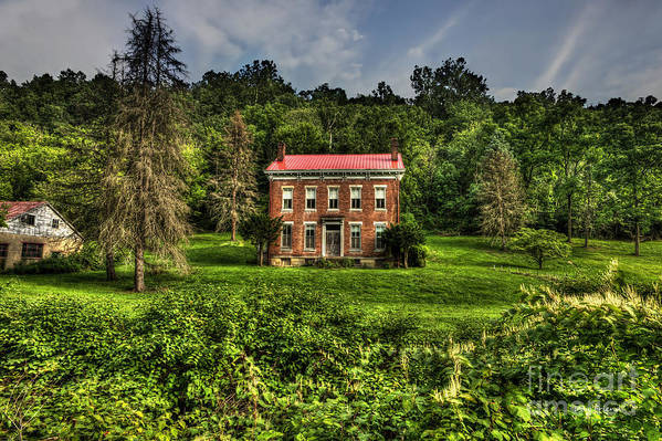 Abandoned House Art Print featuring the photograph Abandoned House Near Wheeling by Dan Friend