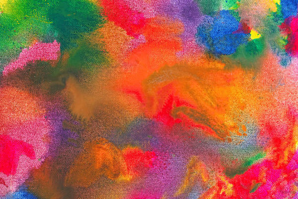 Abstract Art Print featuring the photograph Abstract - Crayon - Melody by Mike Savad