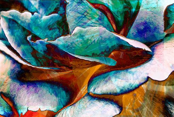Abstract Art Print featuring the digital art Abstract by Carrie OBrien Sibley