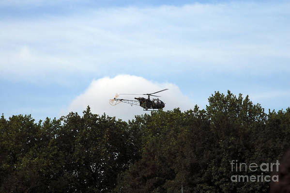 Aerial Art Print featuring the photograph Alouette II Of The Belgian Army by Luc De Jaeger
