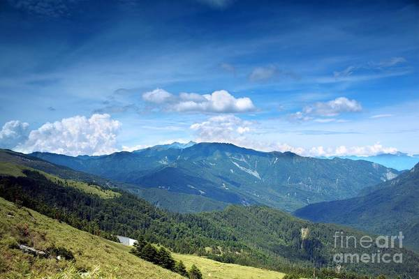 Mountains Art Print featuring the photograph Alpine Panorama In Taiwan by Yali Shi