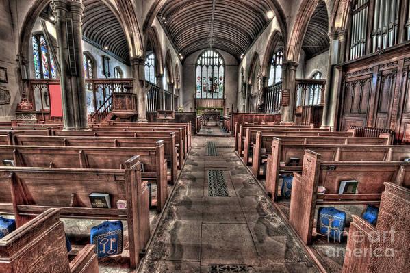 Lingfield Art Print featuring the photograph Ancient Lingfield Church by Donald Davis